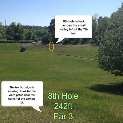 Greenwood Meadows DGC, Main course, Hole 8 Tee pad