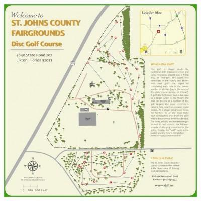 St. Johns County Fairgrounds, Moccasin Creek DGC, Hole 1 Hole sign