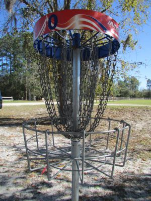 St. Johns County Fairgrounds, Moccasin Creek DGC, Hole 25 Reverse (back up the fairway)