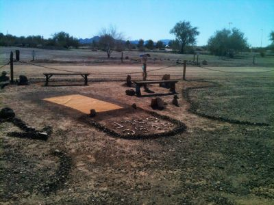 Quartzsite Town Park, Main course, Hole 1 Tee pad