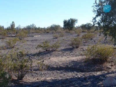 Quartzsite Town Park, Main course, Hole 6 Tee pad