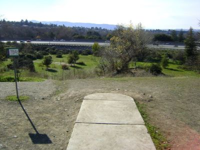 Coyote Creek @ Hellyer Park, Main course, Hole 8 Long tee pad