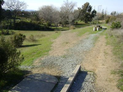 Coyote Creek @ Hellyer Park, Main course, Hole 3 Long tee pad