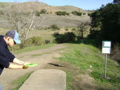 Coyote Creek @ Hellyer Park, Main course, Hole 2 Long tee pad
