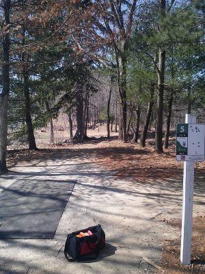 Buffumville Lake, Long Course, Hole 5 Tee pad