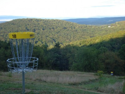 Dorsey's Knob DGC, Main course, Hole 18 Reverse (back up the fairway)