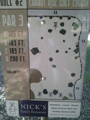 Chabot Park, Main course, Hole 2