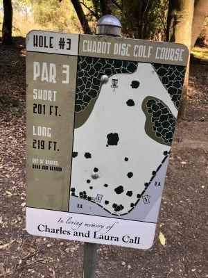 Chabot Park, Main course, Hole 3 Hole sign