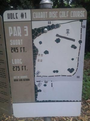 Chabot Park, Main course, Hole 1 Hole sign