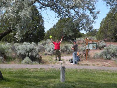Massacre Rocks State Park, Main course, Hole 1 Tee pad