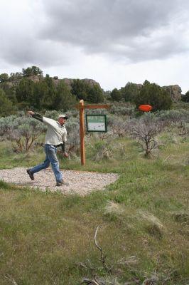 Massacre Rocks State Park, Main course, Hole 3 Tee pad