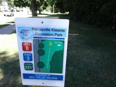 Painesville Recreation Park, Main course, Hole 8 Tee pad