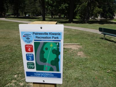 Painesville Recreation Park, Main course, Hole 4 Tee pad
