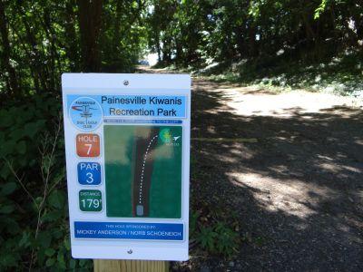 Painesville Recreation Park, Main course, Hole 7 Tee pad