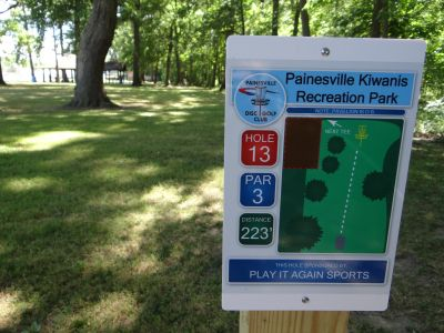 Painesville Recreation Park, Main course, Hole 13 Tee pad