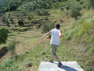Fattoria di Pietrabuona, Tuscany Disc Golf, Hole 1 Long tee pad