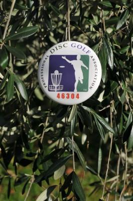 Fattoria di Pietrabuona, Tuscany Disc Golf, Hole 5 Hole sign