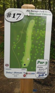 Jim Barnett Park, Main course, Hole 17 Hole sign