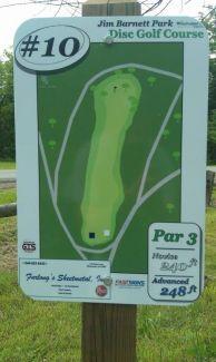Jim Barnett Park, Main course, Hole 10 Hole sign