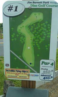 Jim Barnett Park, Main course, Hole 1 Hole sign