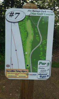 Jim Barnett Park, Main course, Hole 7 Hole sign