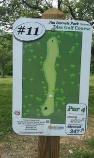 Jim Barnett Park, Main course, Hole 11 Hole sign
