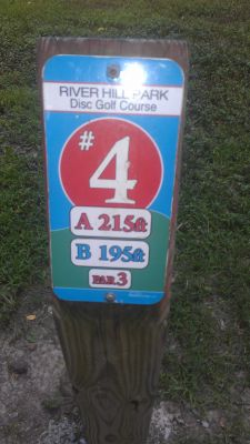 River Hill Park, Main course, Hole 4 Hole sign