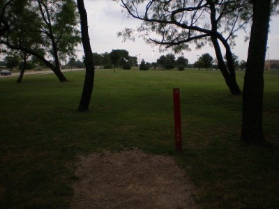 TCC Southeast Campus, Main course, Hole 9 Tee pad