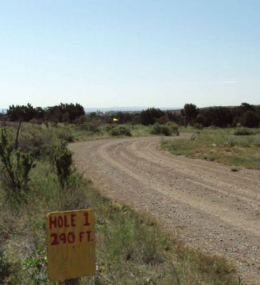 Wildlife West Nature Park, Main course, Hole 1 Tee pad