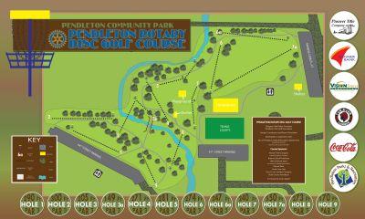Pendleton Community Park, Rotary DGC, Hole 1 Hole sign