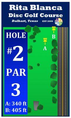 Rita Blanca DGC, Main course, Hole 2 Hole sign