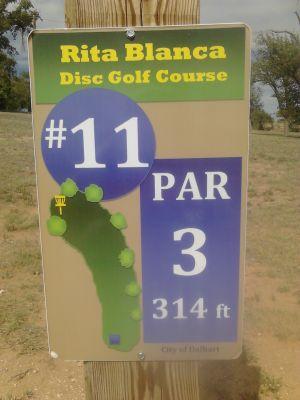Rita Blanca DGC, Main course, Hole 11 Hole sign