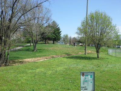 Roberts Park, Cabool Bulldog DGC, Hole 8 Tee pad