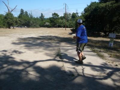 DeLaveaga Park, Main course, Hole 6 Tee pad