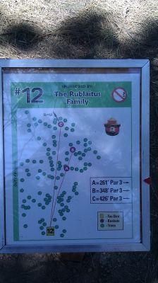 Turtle Rock Park, Main course, Hole 12 Hole sign