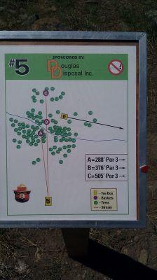 Turtle Rock Park, Main course, Hole 5 Hole sign