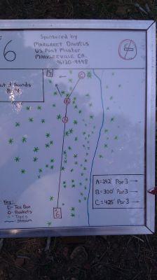 Turtle Rock Park, Main course, Hole 6 Hole sign