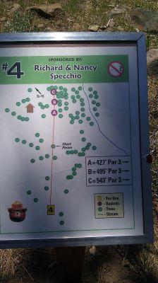 Turtle Rock Park, Main course, Hole 4 Hole sign
