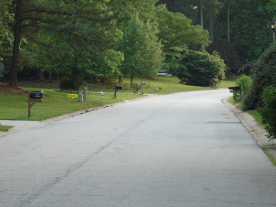 Old Peachtree Walk, Main course, Hole 4 Short approach
