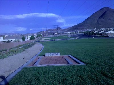 Armagosa Trail, Henderson Course, Hole 5 Tee pad