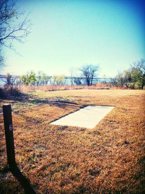 Eisenhower State Park, Melvern Lake, Hole 6 Long tee pad