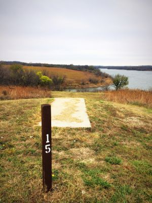 Eisenhower State Park, Melvern Lake, Hole 15 Long tee pad