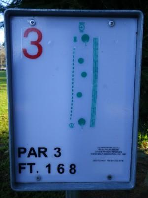 Northwest University, Northwest University DGC, Hole 3 Hole sign