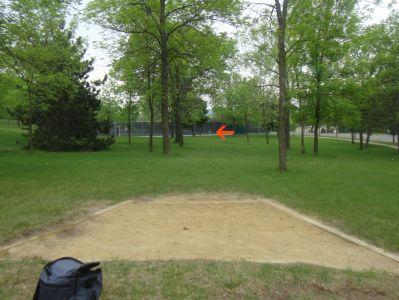 Rowe Park, Main course, Hole 1 Tee pad
