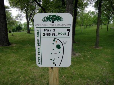 Rowe Park, Main course, Hole 7 Hole sign