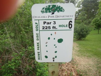 Rowe Park, Main course, Hole 6 Hole sign