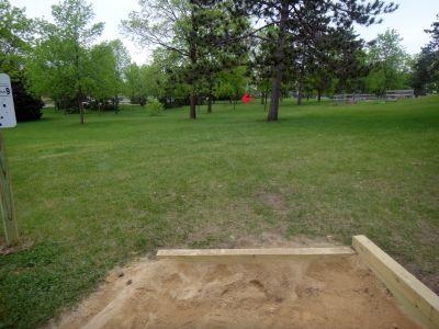 Rowe Park, Main course, Hole 9 Tee pad
