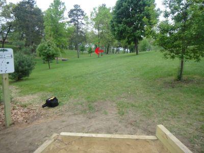 Rowe Park, Main course, Hole 6 Tee pad