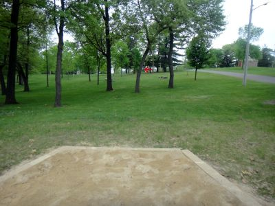 Rowe Park, Main course, Hole 7 Tee pad