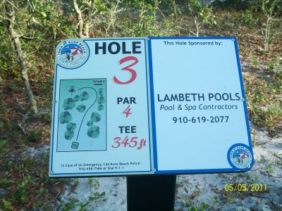 Joe Eakes Park, Main course, Hole 3 Hole sign